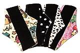 Compresas reutilizables | 4 salvaslip tela muy absorbentes | toallas femeninas de tela menstruación