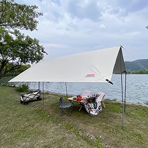 BBGS Cámping Carpa Lona Refugio, Ligero Impermeable a Prueba de Viento Lona de PU3000mm con 8 Estacas de Aluminio 8 Cuerdas y Postes para Camping al Aire Libre (Size : 3x4m)