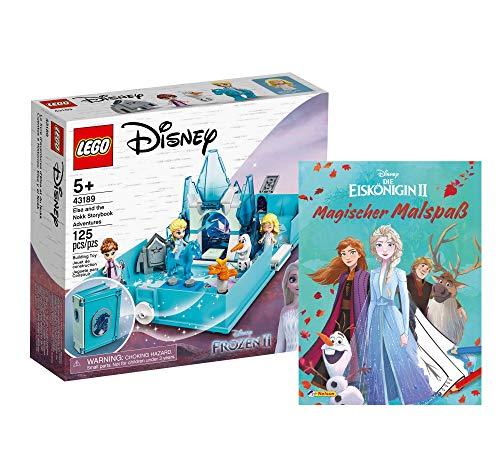 Collectix Lego Disney – Set: libro de cuentos de hadas Elsas (43189) + Frozen 2 mágicas diversión de colorear (tapa blanda), set de regalo a partir de 5 años.