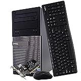 Dell Gaming Desktop Computer Tower PC, Intel Quad Core i5 3.2GHz, 16GB RAM, 128GB SSD + 500GB Hard Drive, Windows 10 Home, Nvidia GT 730 Graphics Card, Wireless Keyboard & Mouse, HDMI, Wi-Fi (Renewed)
