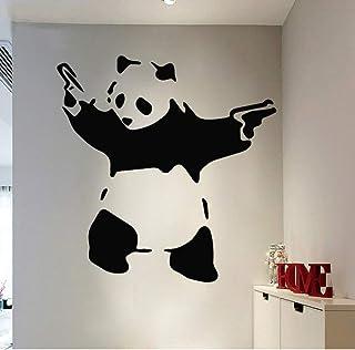 BFMBCH Cute Panda Wall Sticker Boy Decoración para el hogar Sala de estar Dormitorio Kung Fu Vinilo Extraíble Impermeable Etiqueta de la pared 36cm X 38cm