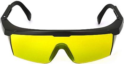 Nishore Óculos de segurança 200-540nmnm Laser Eye Protection Goggles Yellow