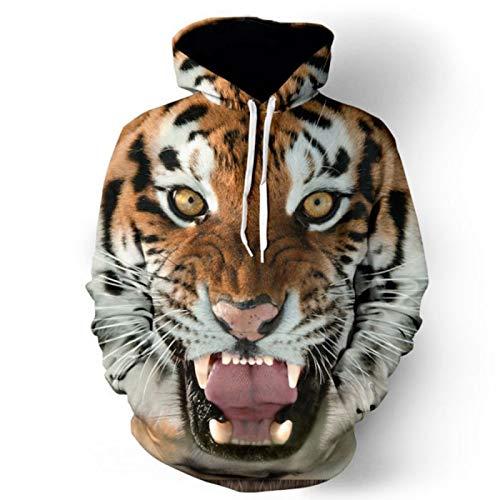 XUEMEI Eagle Tiger Lion 3D Druck Herren Pullover Hoodie Paare Sweatshirt Casual Sportswear Bequeme Tops Jacke B-Large