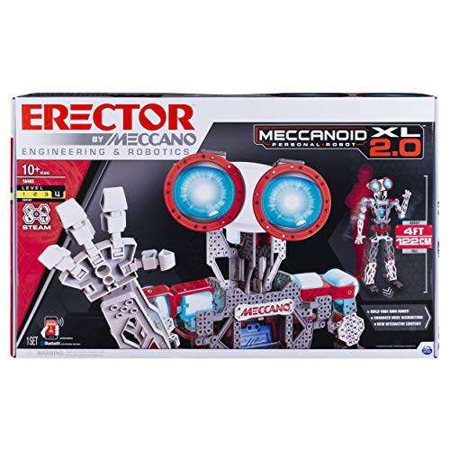 Erector by Meccano Meccanoid XL 2.0 Robot-Building Kit, STEM Education Toy for Ages 10 & Up