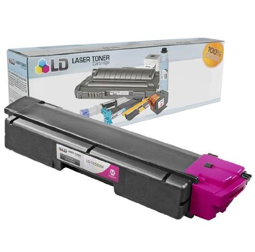 LD Compatible Toner Cartridge Replacement for Kyocera TK-592M (Magenta)