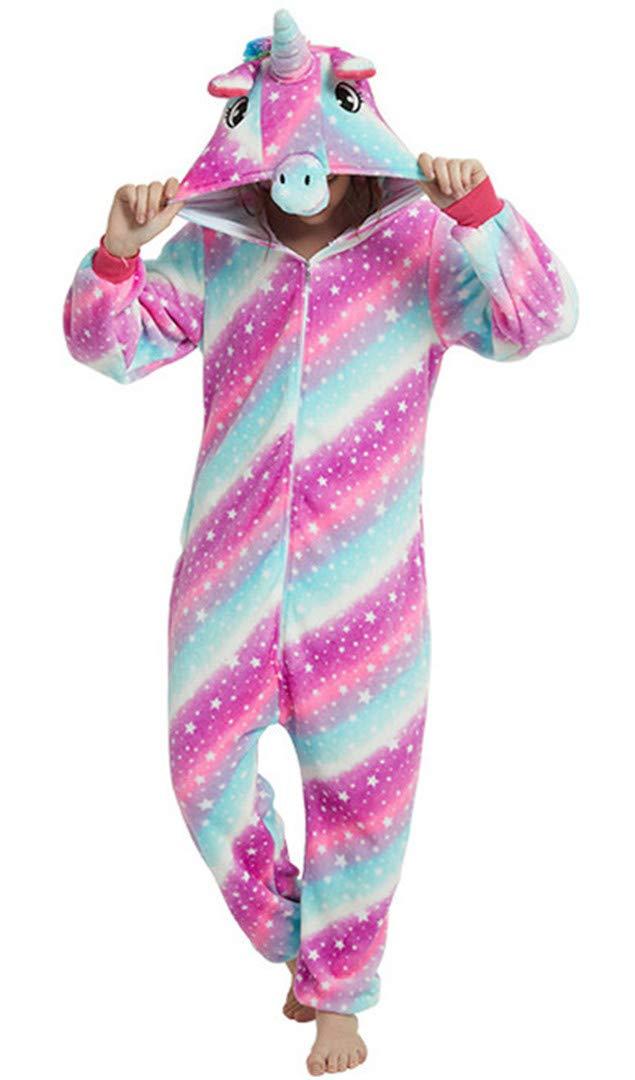 Femmes Kigurumi Une Pièce Pyjama Dessin Animé Halloween Cosplay Vêtements Hoodies Grenouillère Femme Licorne Grande Taille Hiver