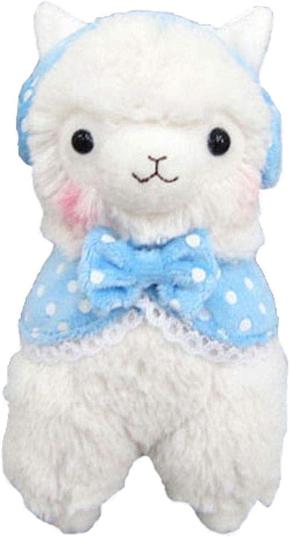Llama W Earmuffs Alpaca 18  Prime Plush White