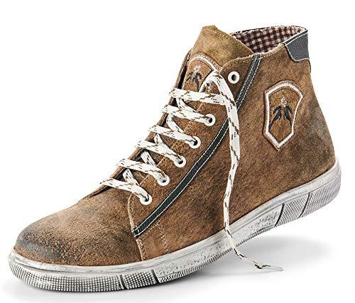 Maddox Herren Trachten Schuhe Hohe Sneaker Marinus - Wood Nappato Gr. 45