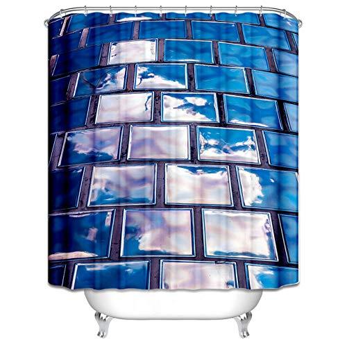 Daesar Duschvorhang Polyester-Stoff Vintage Wand Duschvorhang Anti-Schimmel 150x200