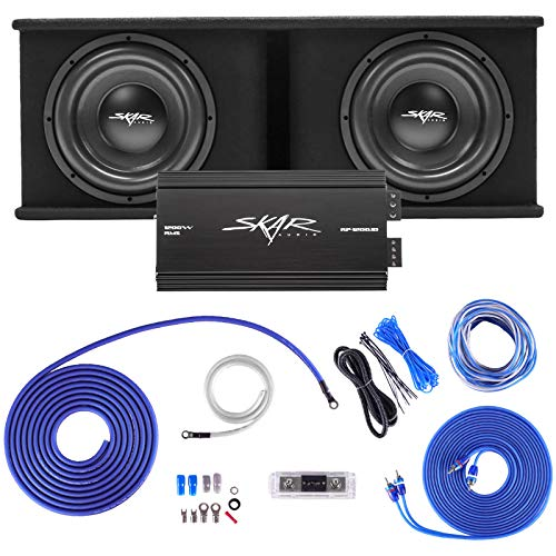 Skar Audio Dual 12  Complete 2,400 Watt SDR Series Subwoofer Bass Package - Includes Loaded Enclosure with Amplifier