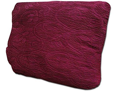 Corredocasa - Copridivano Elastico 2 Posti, Poliestere-Cotone, Bordeaux, da 110 a 150 cm