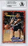 Allen Iverson Autographed 1996-97 Pacific Power Rookie Card #RR20 Georgetown Hoyas Beckett BAS #10066444. rookie card picture