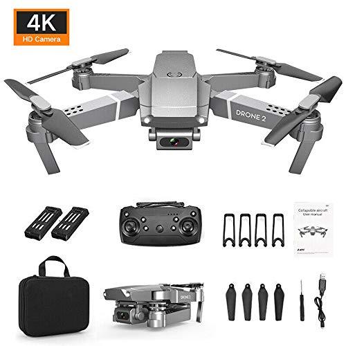 HSKB E68 Drohne mit 4K HD Kamera Faltbare WiFi FPV Live Übertragung RC Quadrocopter 6-Achsen 3D Flips One Key Start Headless Modus mit 2pcs 3,7 V 800 mAh Batterie mit Rucksack für Anfänger