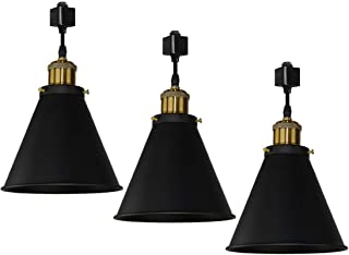 Kiven H-Type Track Pendant Lignting Antique Industrial Oil Rubbed Bronze Pendant Fixture 3 Pack,TB0132-B-30.5CM