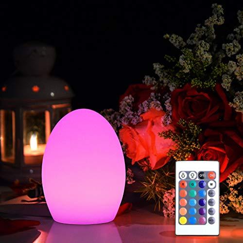 Luz del Jardín, Bola de Luz de Piscina Flotante LED, Control Remoto, Luz de Atmósfera RGB, Recargable IP65 a Prueba de Agua, Luz Nocturna Regulable Junto a la Cama (Color : 19CM/7.5IN)