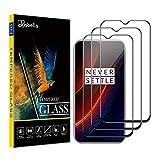AKABEILA Cristal Templado Compatible para Oneplus 7 Protector de Pantalla para Oneplus 7 [3 Piezas] Full [Cobertura Completa] HD Sin Burbujas [9H Dureza] Vidrio Templado, Negro