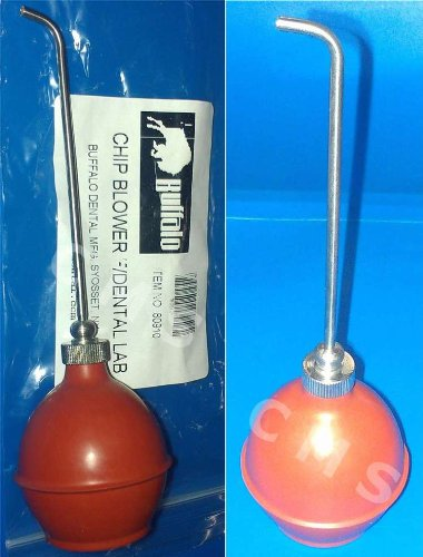 Buffalo Dental Lab Complete Phenol Syringe with Rubber Bulb Chip Blower Made in USA