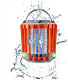 SUPOLOGY Camping Lantern, IP67 Waterproof Rechargeable Bug Zapper Flashlights 4 Lighting Modes Dimmable Emergency LED Light for Home Party, Yard, Camping, Hiking, Fishing, Hurricane, Outage