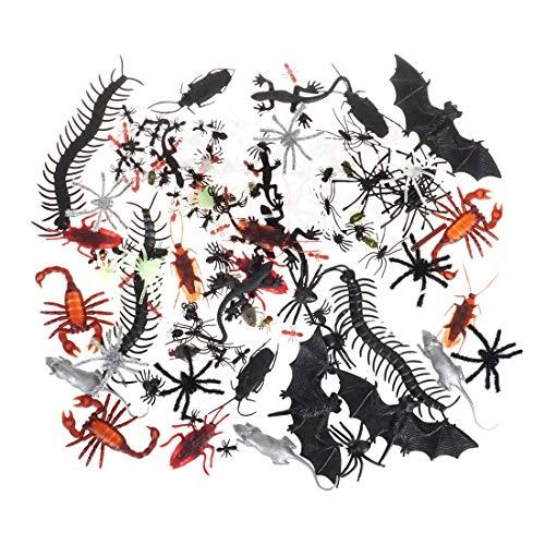 CoolChange Set de Insectos espantosos Decorativos | 150 Piezas | artículos de Broma de Halloween | decoración con arañas, cucarachas, Hormigas
