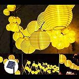Guirnaldas Luces Exterior Solar LED, 6.5M 30LED Guirnaldas de Luces Solar Impermeable, Guirnaldas de...