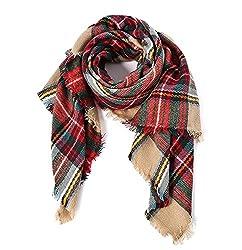 tie blanket scarf, tartan scarf, blanket scarves women, oversize blanket scarves