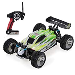 1/18 Scale Car: The 1/18 scale remote control truck is suitable for indoor and outdoor control, which offers flexible and stable driving experience. 2.4GHz Radio System: 2.4GHz supports several RC cars be used at the same time and a range of remote c...
