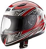Protectwear SA03-RT-S Kinder Motorradhelm, Integralhelm, Größe S (Youth XL), Rot/Silber