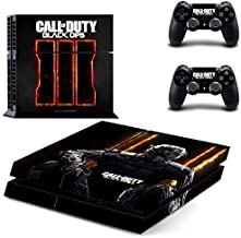 Ambur® Protective Vinyl Skin Decal Cover for Sony PlayStation 4 PS4 Console & Remote DualShock 4 Controller Sticker Skins - bo3 Call of Duty Black Ops (1 Console Sticker + 2 Controller Stickers)