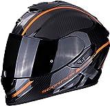 Scorpion Motorradhelm EXO-1400 AIR CARBON GRAND Orange, Schwarz/Orange, M