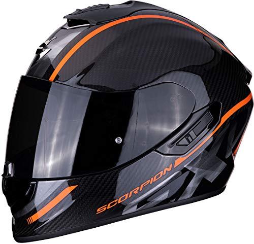 Scorpion Unisex– Erwachsene NC Motorrad Helm, Schwarz/Orange, XL