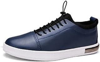 [QIFENGDIANZI] デッキシューズ メンズ カジュアルシューズ 靴 ドライビングシューズ スニーカー 紳士靴 ローカット アウトドア レースアップ オシャレ スリッポン コンフォート ホワイト ブラック ブルー