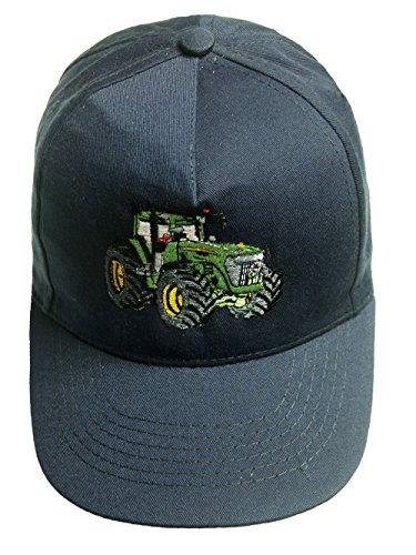 Zintgraf Jungen Cap Baseball Kappe Traktor Stickerei Grüner Trecker (dunkelblau)