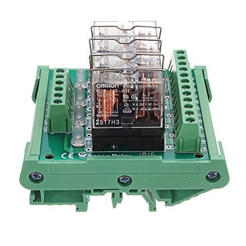 Relay Module con luz indicadora de DC 12V 1E-K424 4 Canales Módulo de relé del Controlador PLC Junta de amplificación para Aparato electrodoméstico