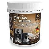 170 pastillas limpiadoras Coffeeano Clean&Protect para cafeteras automáticas y cafeteras. Pastillas limpiadoras aptas para todas las marcas y electrodomésticos. Incluye un libro electrónico