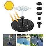 PREUP Solar Springbrunnen, Solar Teichpumpe Garten Wasserpumpe mit 1,4W Monokristalline Solar Panel Brunnen, Schwimmender Dekoration für Garten, Kleiner teich, Vogelbad, Fisch-Behälter, Pool