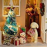 Decdeal DIY Puppenhaus 3D Holz Miniaturhaus Kit mit LED Licht Kunsthandwerk Geschenk für Valentinstag, Kindertag, Weihnachten, Hochzeit, Geburtstag - 5