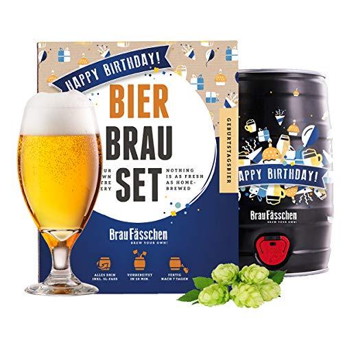 BrauFässchen Bierbrauset zum selber Brauen | Geburtstagsbier im 5L Fass | Leckeres Bier In 7 Tagen gebraut | Perfektes Männergeschenk