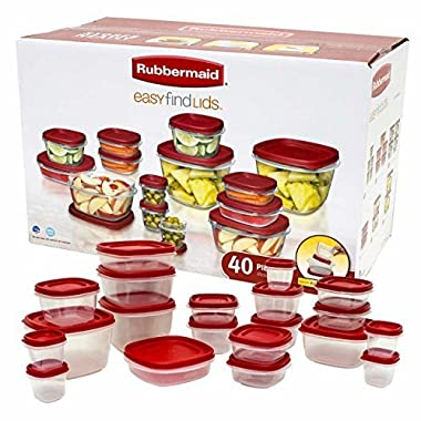 Rubbermaid Easy Find Lid Food Storage Container Set, 40-Piece Value Pack