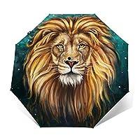 傘 動物 ライオン 折りたたみ傘 日傘 ワンタッチ 自動開閉 紫外線遮蔽 超撥水 晴雨兼用 メーズ レディース 携帯しやすい 収納ポーチ付き