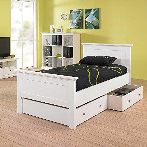 Pharao24 Bett für Kinderzimmer mit Schubladen Bettkasten Ja