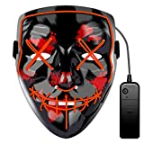 JCT Halloween LED Máscaras Purga Grimace Mask Horror Mask Scary LED Ilumina...