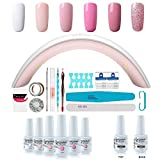 Best Gel Polish Kits - Gel Nail Polish Starter Kit - 6 Colors Review