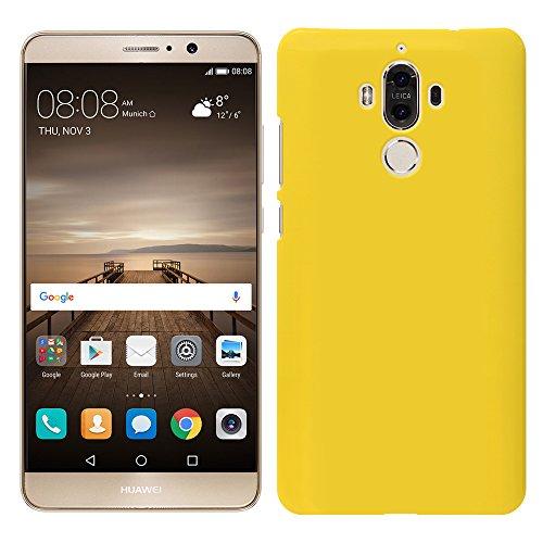 「Breeze-正規品」iPhone ・ スマホケース ポリカーボネイト [Yellow]ファーウェイ メイト9 ケース HUAWEI Mate 9 SIMフリー MATE9ケース MATE9カバー 液晶保護フィルム付 全機種対応 [MATE9]