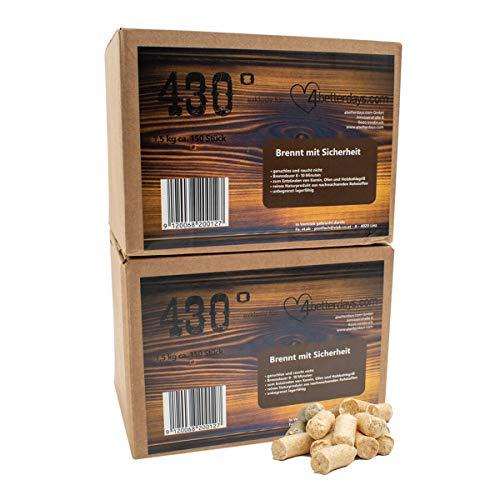 eLab 430° Öko Anzünder – 3,0 kg ca. 300 STK.- Kaminanzünder I Ofenanzünder l Grillanzünder l Brennholzanzünder l Holzkohle l Briketts l Kaminholz l Premium-Holz & Wachs l Top Qualität Produktname
