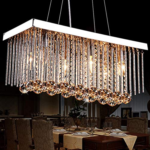 BAIJJ Hanger licht kristal kandelaars, rechthoekige plafond kroonluchters, kristallen kandelaars [Energie Klasse A ++]