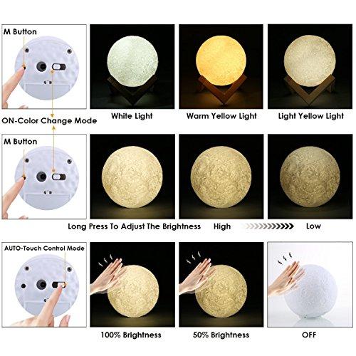 GreenClick LED Luna Moon Lamp