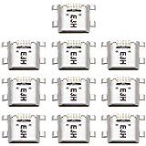 ZHANGJIALI Jiali móviles Piezas de Repuesto de teléfono Conector de Puerto de Carga DCVN 10 PCS para Huawei y6 Pro