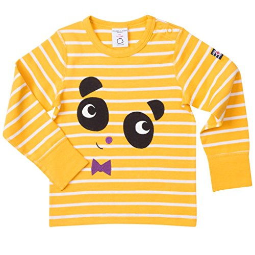 Polarn O. Pyret Anniversary Label ECO Panda TOP (Baby) - 9-12 Months/Golden Rod