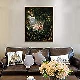 wopiaol Sin Marco The Swing-Fragonard Europe Carteles e Impresiones Arte de la Pared Pintura de la Lona Cuadros de la Pared Decoración nórdica de Cuadros Abstractos