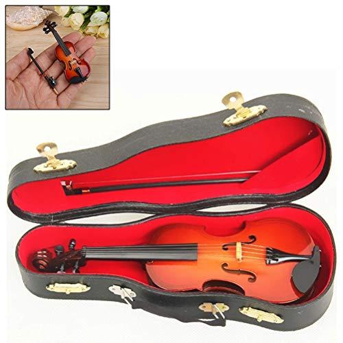 25cm Miniatur Musikinstrument, Miniatur Geige Violine mit Bogen und Koffer zur Dekoration im antik Stil
